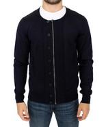 Karl Lagerfeld Blue full zip cardigan sweater - $371.85