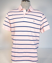 Men's Tommy Hilfiger Classic Fit Pink & Blue Cotton Short Sleeve Polo Shirt  - $59.99