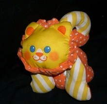 VINTAGE 1990 FISHER PRICE ZOO GRABBERS LION 1336 RATTLE STUFFED ANIMAL P... - $37.04