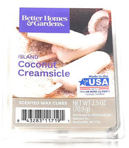 Better Homes and Gardens Scented Wax Cubes, Island Coconut Creamsicle, 2.5 Oz - $3.79