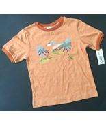 New Cherokee Tropical T-Shirt 24 Mos Orange Ribbed Trim Palm Trees Lands... - $5.93
