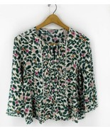Cath Kidston Girls Top Size 14 Green Pink White Floral Butterfly Boho Bl... - $13.86
