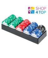 Bicycle 100 Poker Puces Ensemble avec Plateau Clay Remplie 8 Gram Tourno... - $43.77