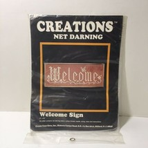 """Welcome Sign Lace Net Darning Kit 8"""" x 22""""  - $9.74"""