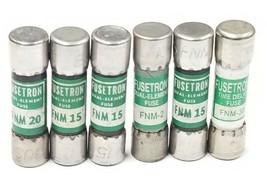 LOT OF 6 COOPER BUSSMANN FUSETRON FUSES FRM-2, FRM-15, FRM-20, FRM-30