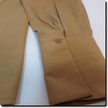 Express Light Brown Fitted Long Sleeve Stretch Top with French Cuffs 10 image 4