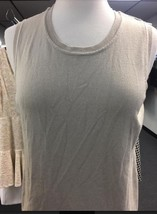 Charter Club New Sand Sleeveless Crewneck Shell Top - $6.00
