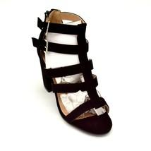 "Chase & Chloe Womens Royce Galdiator Sandal Size 8 4"" Block Heel Black New - $21.96"