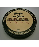 """First National Bank Minneapolis """"Simple as Your ABC'S"""" Celluloid Bank, v... - $65.00"""