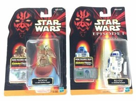 Lot of 2 Star Wars Commtech R2-D2 YODA Action Figures New Sealed NIB Hasbro - $19.99