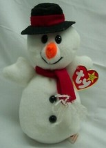 """TY 1996 Beanie Baby SNOWBALL THE SNOWMAN 7"""" STUFFED ANIMAL Toy NEW - £89.98 GBP"""