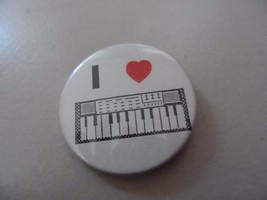 "I love Piano keyboard 2.25"" badge a minit , Lasalle - $6.50"