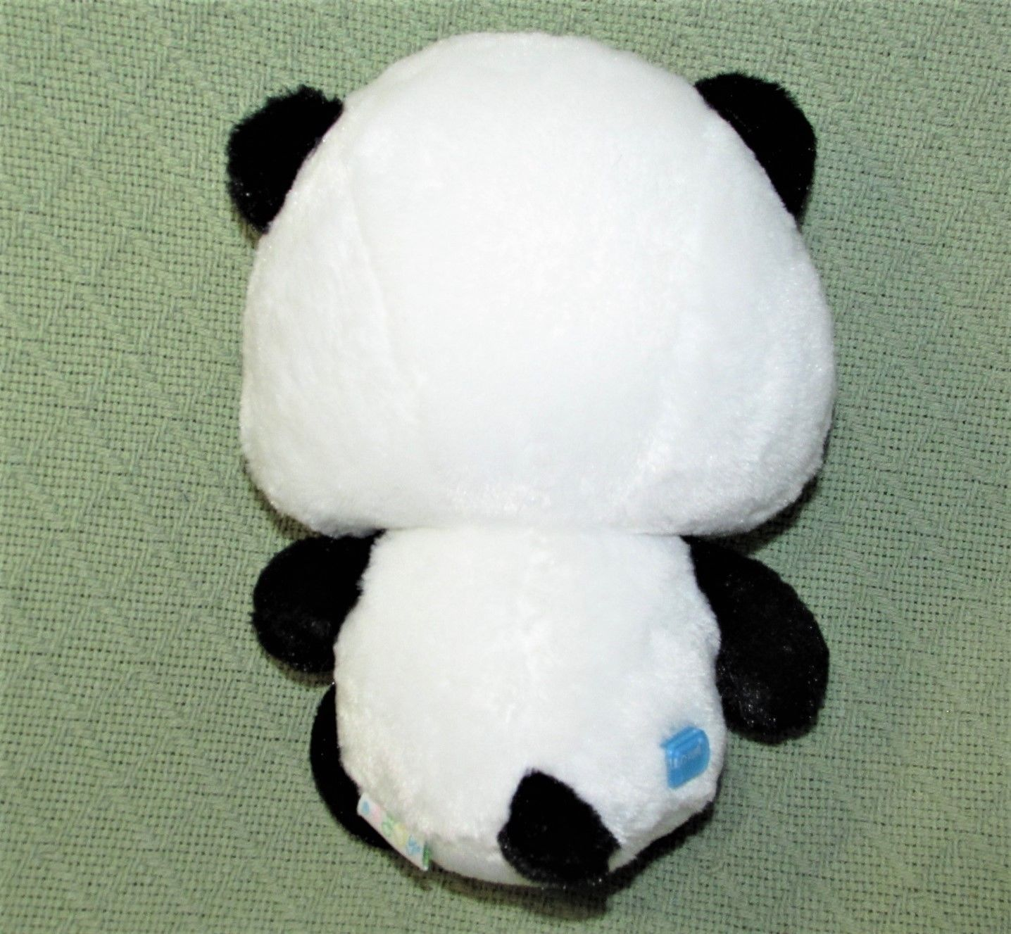 "ANIME PANDA Plush Japanese Stuffed Animal DOll Toy Black White RED BOW 9"" Baby  image 5"