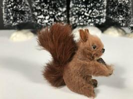 Vintage miniature squirrel West German Original fur toys miniature anima... - $37.94