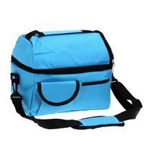 (sky blue)8L Square Thermal Bag Women Men Lunch Bag Cooler Beam Port Lun... - $34.00