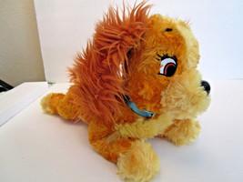 DISNEY LADY & The Tramp DOG PUPPY gold, yellow plush TOY Cocker Spaniel - $9.99