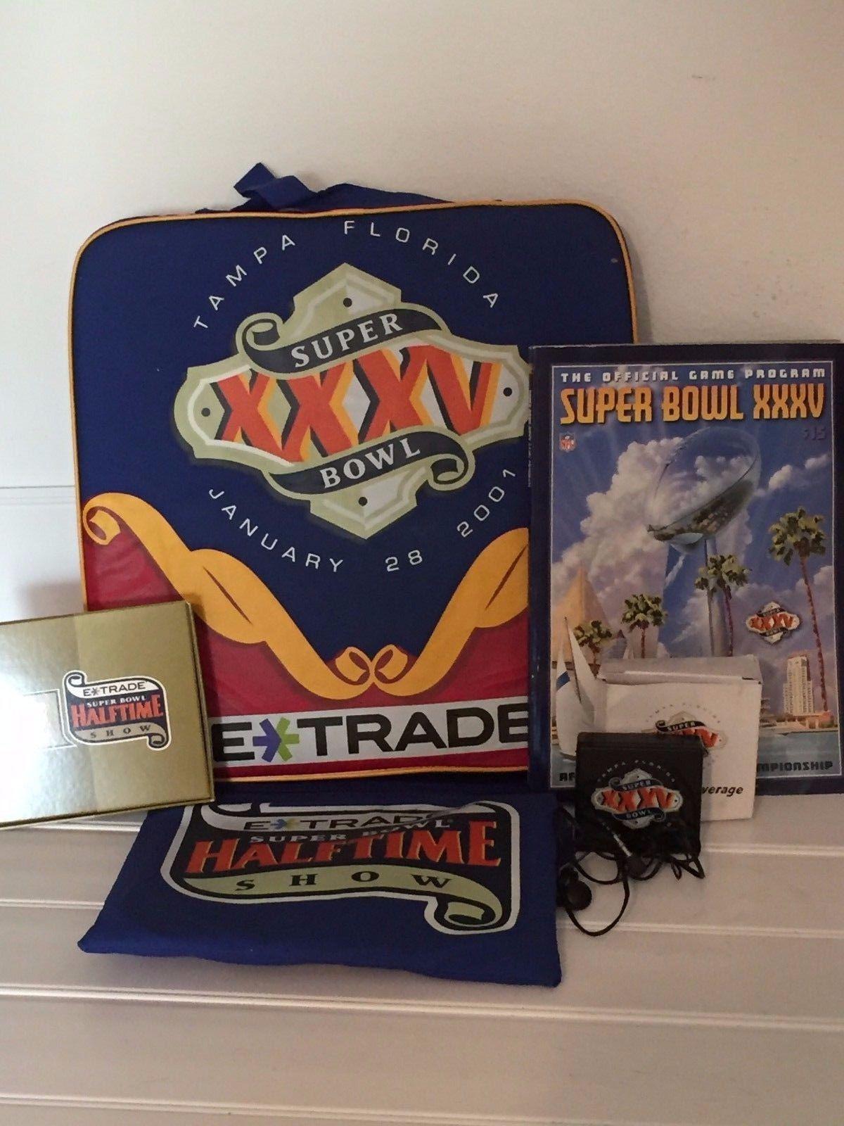 Superbowl xxxv 2001 Seat Lot Souvenir Program Football