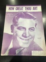 'How Great Thou Art' Vintage Sheet Music-cover photo George Beverly Shea... - $14.43