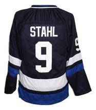 Any Name Number Island Iceland Retro Hockey Jersey Navy Blue Stahl #9 Any Size image 2