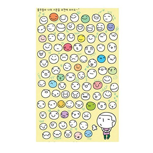 Primary image for 6 Sheets Lovely Stickers Sticker for Phone Notebook Suitcase Diary Decoration