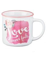 Mug - Love Never Fails Watercolor Collection, White - $12.99