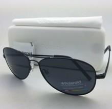 Polaroid Lunettes de Soleil Pld 1004/S 003 C3 61-15 Noir Aviateur Gris - $59.77