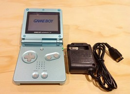Nintendo Game Boy Advance GBA SP Pearl Blue System AGS 001 MINT NEW - $79.15