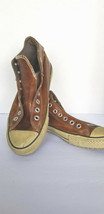 Converse Chuck Taylor All Star Brown Leather High Tops Shoes Men's Size ... - $41.71