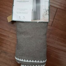"""Threshold  Light Filtering Gray Stitched Edge 1 Curtain Panel 54""""×84"""" NEW - $34.99"""