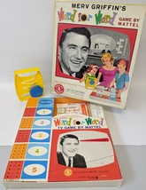 Vintage 1963 Merv Griffin's WORD FOR WORD Board Game by Mattel, fun game! - $25.00