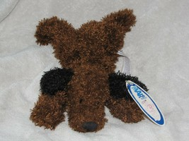 Mary Meyer Puppins Stuffed Plush Brown Bean Bag Floppy Puppy Dog Black S... - $39.59