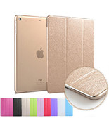 Silk Leather Smart Magnetic Stand Case Cover for New iPad 9.7 2017 Released - $7.63