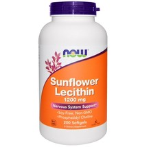 Now Foods, Sunflower Lecithin, 1200 mg, 200 Softgels - $21.00
