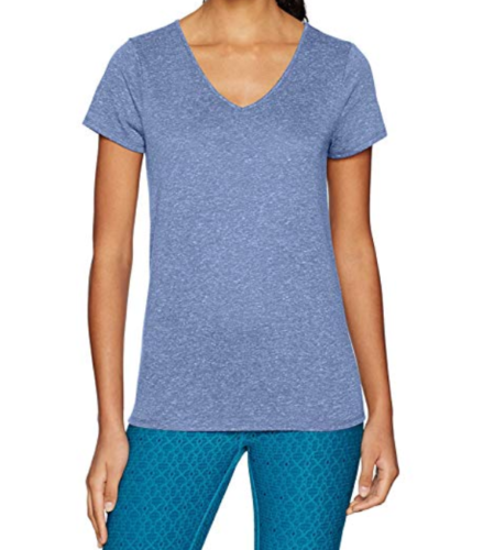 Medium 8-10 Lole Women's Esha Top V-Neck Short Sleeve Tee Shirt Midnight NEW