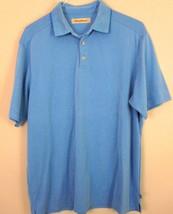 Tommy Bahama Polo Shirt Large Blue Short Sleeve L Mens - $31.67