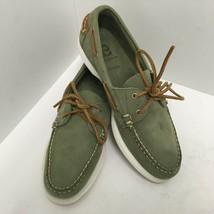 Allen Edmonds MARITIME Sage Green Boat Shoes Mens Size 9B GUC - $56.09