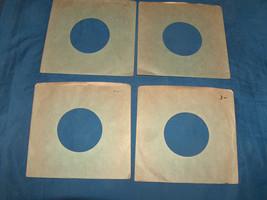 (4) Lot VTG Green 45 RPM Heavy Stock Outside Seam Vinyl Wax Record Sleev... - $8.89