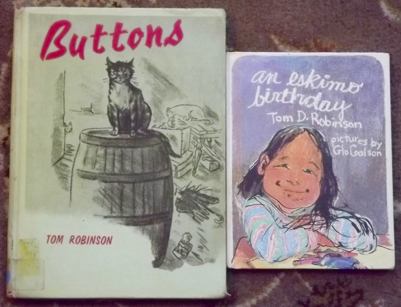Buttons (stray cat story) and an eskimo birthday by Tom Robinson