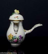 Herend Porcelain Handled Creamer with Lid, Printemps Pattern, 620/BT - $149.00