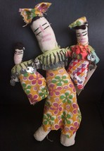 Vintage cloth folk art Egypt rag doll family handmade - $9.89