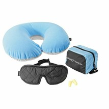 COCOON ULTRALIGHT 3 PIECE TRAVEL SET WITH PILLOW EYE SHADE & EAR PLUGS BLUE - $44.50