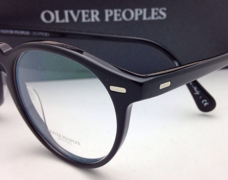 a12dae115d New OLIVER PEOPLES Eyeglasses GREGORY PECK OV 5186 1005 47-23 Round Black  Frames