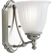Progress Lighting P3016-81 1-Light Wall Bracket with Etched Glass, Antique Nicke - $22.35