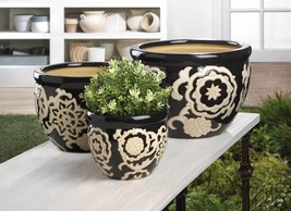 Floral Nights Ceramic Planter Set - $69.95