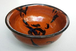 Asian Handmade Signed Pottery Bowl - $71.55