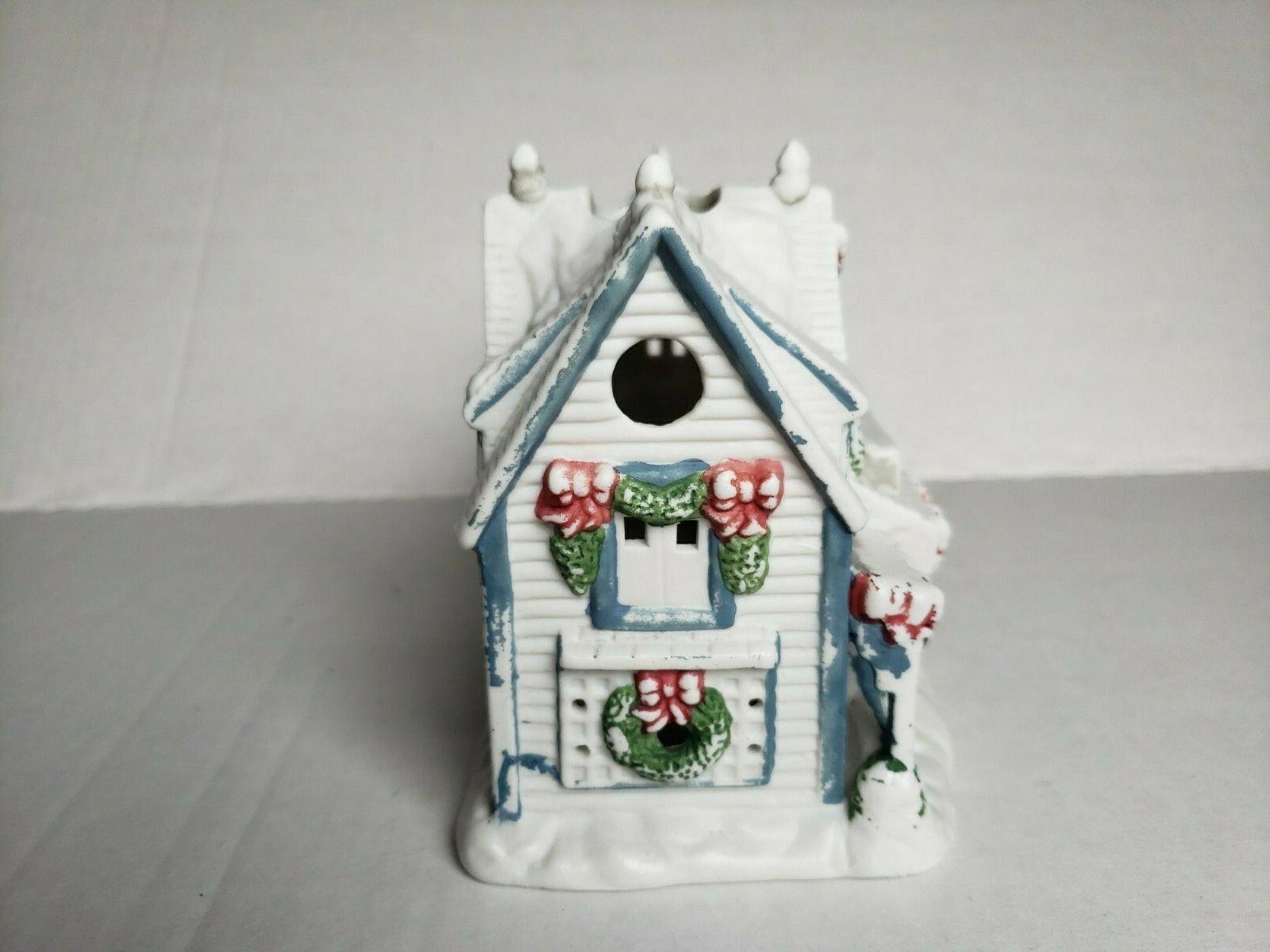 Cape Cod Candle Shop Tealight Candle Holder Holiday Village PartyLite P0532 Vtg
