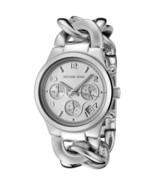 Michael Kors MK3149 Runway Silver Chain Bracelet Wrist Watch for Women - $90.90