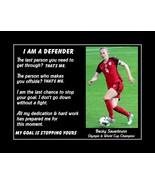 Becky Sauerbrunn Inspirational USWNT Soccer Quote Wall Art Motivation Poster - $19.99 - $45.99