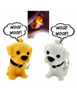 LED DOG KEYCHAIN w Light and Sound Animal Toy Cute Barking Puppy Key Rin... - $6.95+