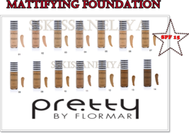 Mattifying Foundation Pretty Flormar Flawless Coverage SPF15 Oil-free 30 ml - $12.45